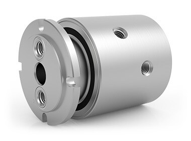 "GPS-421, 2-Passage Rotary Union, 1/2""-14 NPT Connections, Stainless Steel"