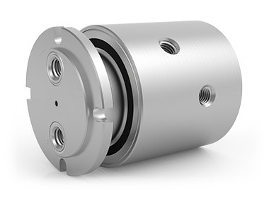 "GPSM-120, 2-Passage Rotary Union, G1/8""-28 BSPP Connections, Stainless Steel"