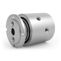 "GPS-221, 2-Passage Rotary Union, 1/4""-18 NPT Connections, Stainless Steel"