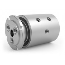 "GPSM-331, 3-Passage Rotary Union, G3/8""-19 BSPP Connections, Stainless Steel"