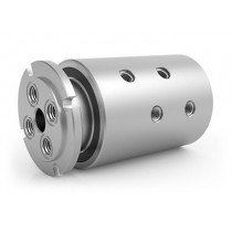 "GPSM-141, 4-Passage Rotary Union, G1/8""-28 BSPP Connections, Stainless Steel"
