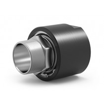 "SPS-5910, 1-Passage Rotary Union, 2""-11.5 NPT Connections, Hardcoat Anodized Aluminum / Stainless Steel"